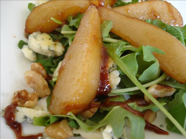 Caramelised Pear and Rocket (Arugula) Salad With Blue Cheese. Photo by ~jus~