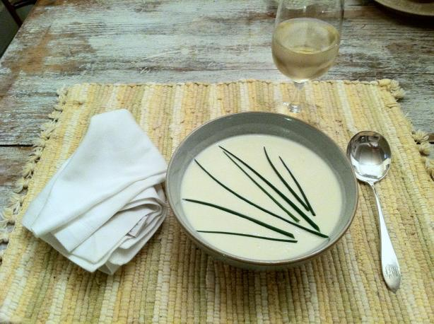 Anthony Bourdain's Les Halles Vichyssoise. Photo by LydiaWilder