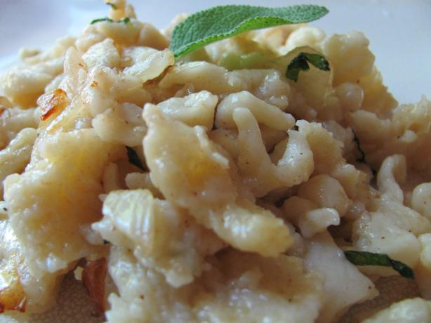 Spaetzle in Sage Brown Butter. Photo by under12parsecs
