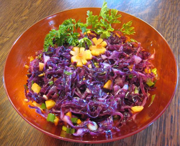 Red Cabbage Coleslaw. Photo by jenchicken