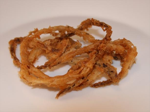 Crispy Fried Onion Strings. Photo by CandyTX