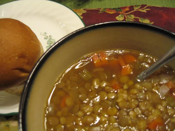 Barley Lentil Soup. Photo by ALH