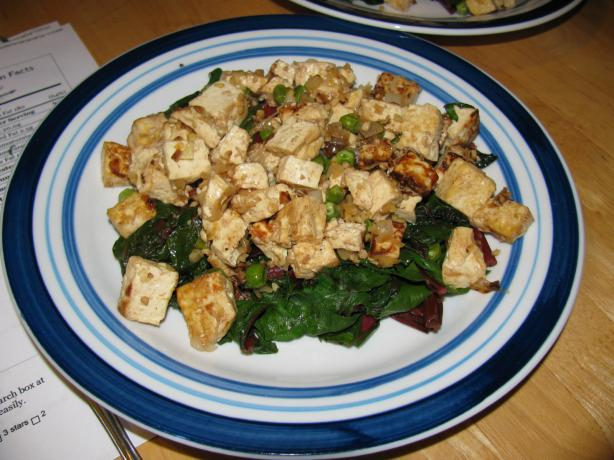 Tibetan Greens With Tofu (Tse Tofu). Photo by zaar junkie