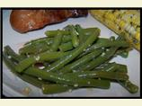 Easy Fresh Bean, Garlic and Onion Saute