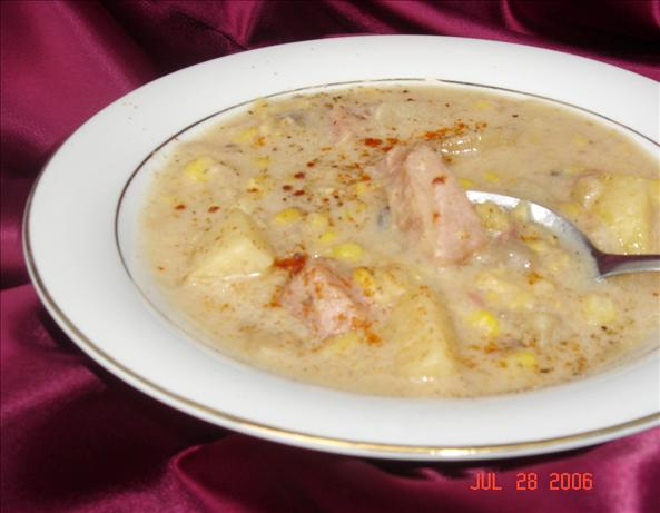 Ham, Corn, and Potato Chowder. Photo by lets.eat