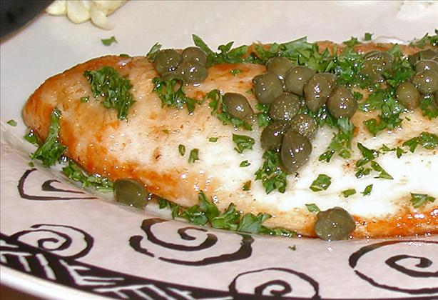 Sole Meuniere With Browned Butter Caper Sauce. Photo by Sandi (From CA)