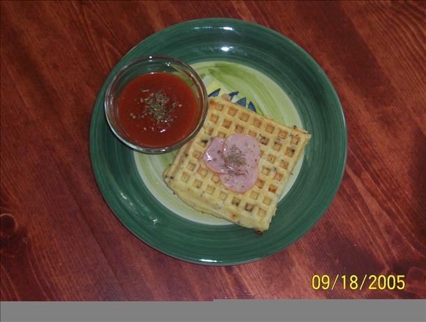 Pizza Waffles. Photo by Lechef in Boise ID