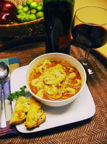 Healthy Tomato-Tortellini Soup. Photo by Caroline Cooks