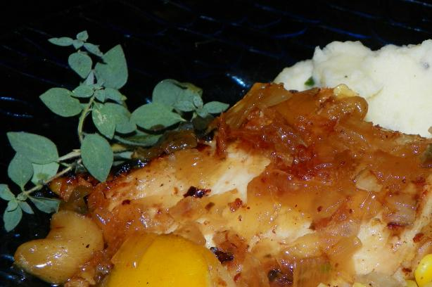 Braised Chicken With Lemon and Honey. Photo by Baby Kato