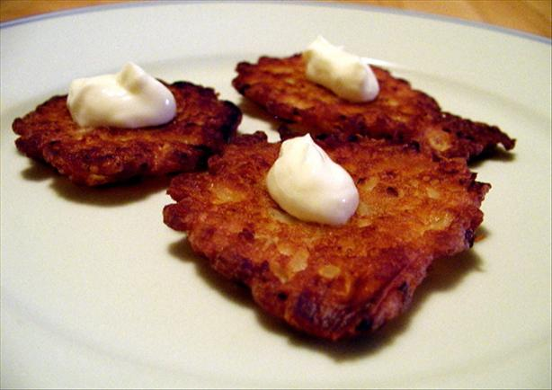 Kittencal's Onion Patties/Latkes. Photo by Mrs Goodall
