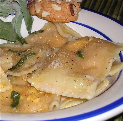 Pumpkin Ravioli With Sage Butter Sauce. Photo by Kozmic Blues