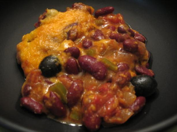 Easy Kidney Bean  and Cheese Casserole. Photo by Engrossed