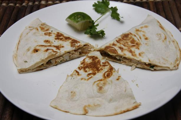 Cheesy Chicken Quesadillas. Photo by Dr. Jenny
