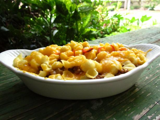 Chili-Mac Casserole. Photo by gailanng