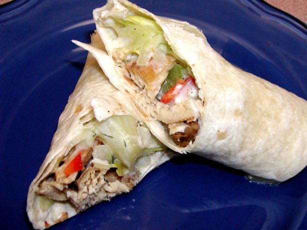 Greek Chicken Tortilla Roll-Ups. Photo by Rita~