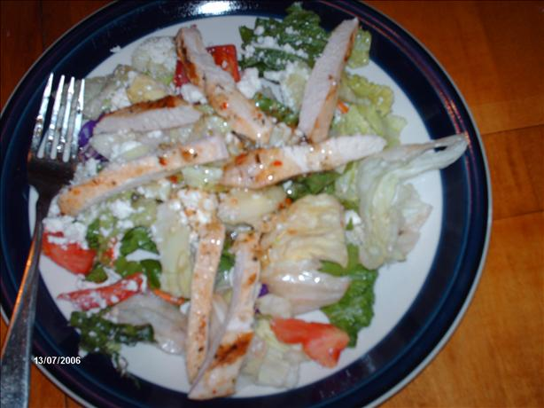 Grilled Greek Chicken Salad. Photo by MelinOhio