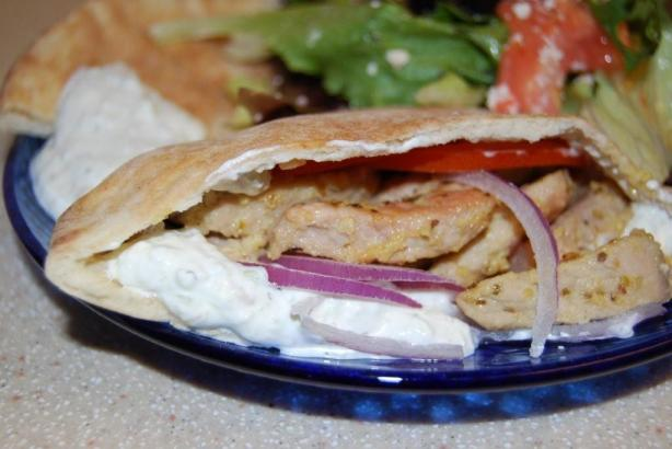 Gyro-Style Pork Sandwiches. Photo by Color Guard Mom