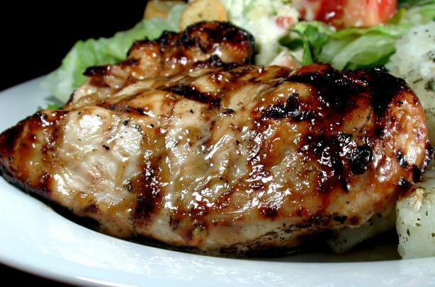 Grilled Chicken Breast With Barbecue Glaze. Photo by Chef floWer