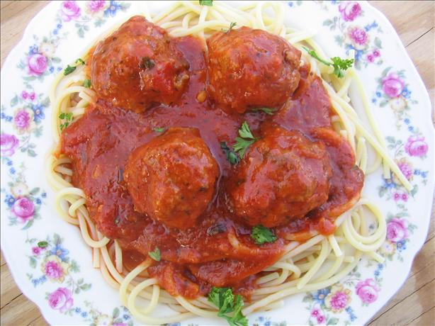 Easy Spaghetti and Meatballs. Photo by Charmie777