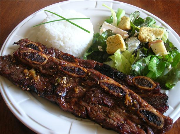 kalbi ribs with macadamia nut rice kalbi korean bbq short ribs kalbi ...
