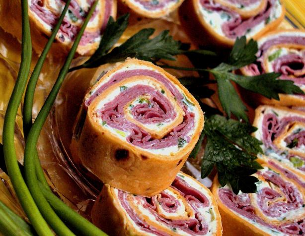 Roast Beef Horseradish Spirals. Photo by GaylaJ
