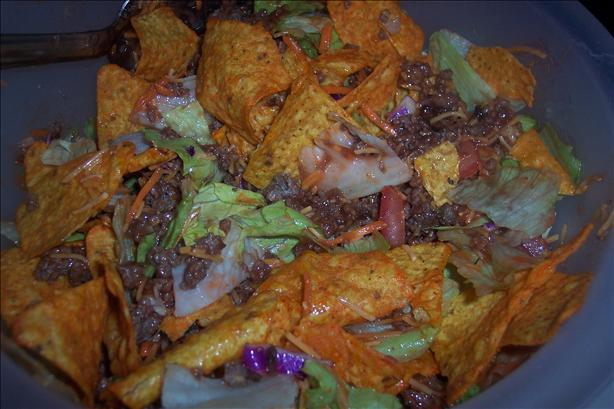 Paula Deen's Taco Salad. Photo by looneytunesfan