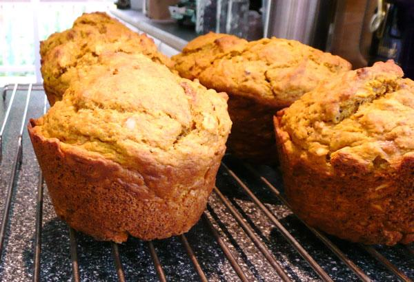 Harvest Time Pumpkin & Oatmeal Muffins. Photo by Mikekey