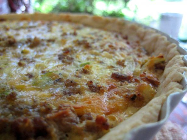 Cheesy Sausage Quiche. Photo by gailanng