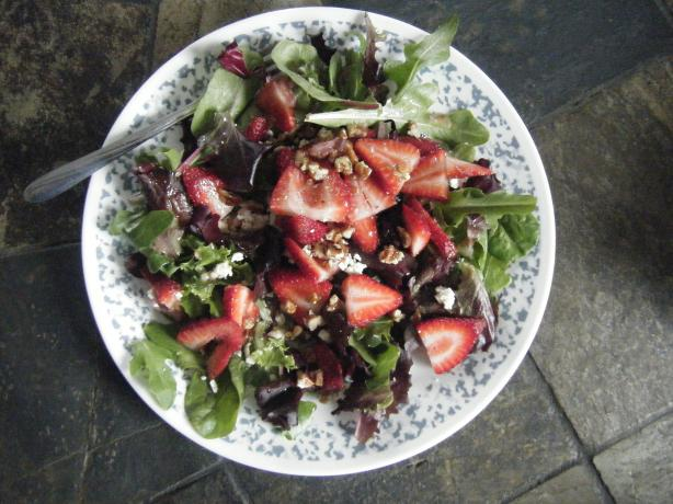 Spinach and Strawberry Salad. Photo by AngAustinBrody