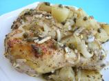 Greek-Style Roasted Chicken Legs, Potatoes and Capers