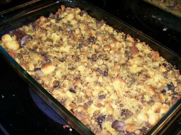 Home For Thanksgiving Fried Cornbread Dressing. Photo by Chur B