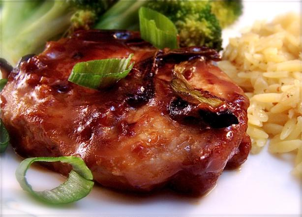 Honey Glazed Hoisin Pork Chops. Photo by PaulaG