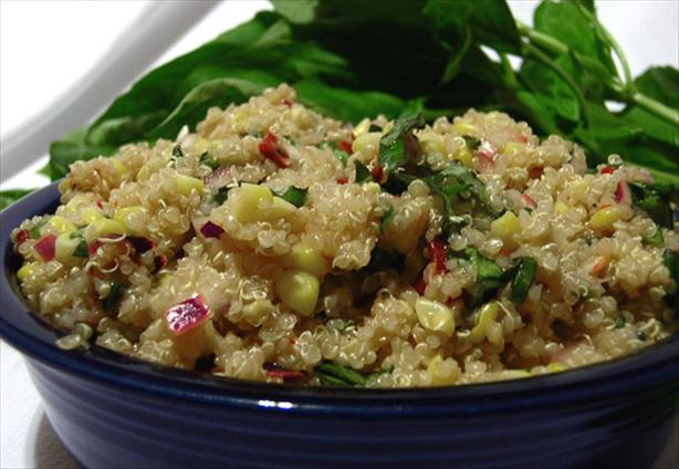 Quinoa Corn Salad. Photo by justcallmetoni