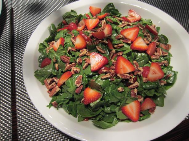 Spinach Strawberry Salad. Photo by Grace Lynn