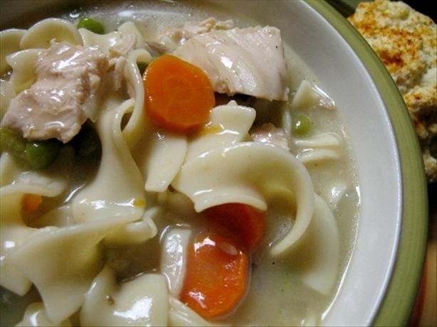 Lazy Slow Cooker Creamy Chicken Noodle Soup. Photo by R.Lynn