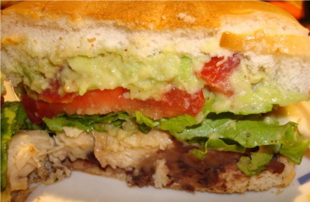 Mexican-Style Chicken Sandwiches. Photo by Starrynews