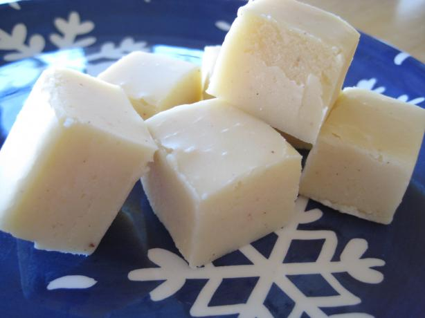 White Chocolate Eggnog Fudge. Photo by aubriannie