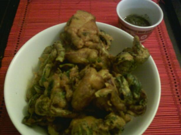 Vegetable Pakora. Photo by pinkocommie