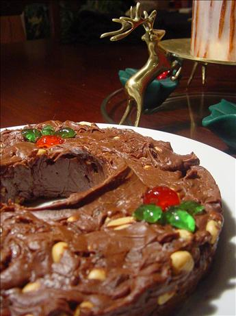 Five Minute Goober and Raisinette Fudge Wreath - Rachael Ray. Photo by Sharlene~W