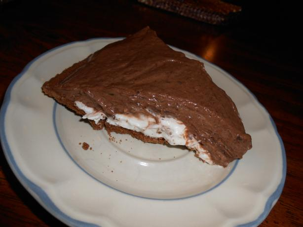 Easy Chocolate Cream Cheese Layer Pie. Photo by linguinelisa