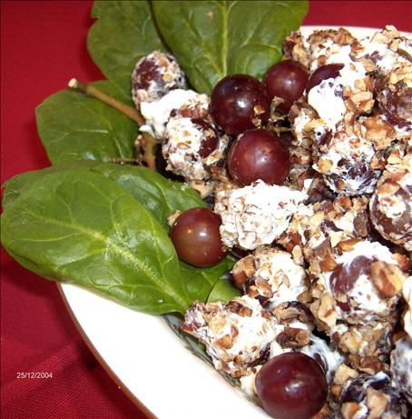 Cream Cheese Grapes With Nuts. Photo by Derf
