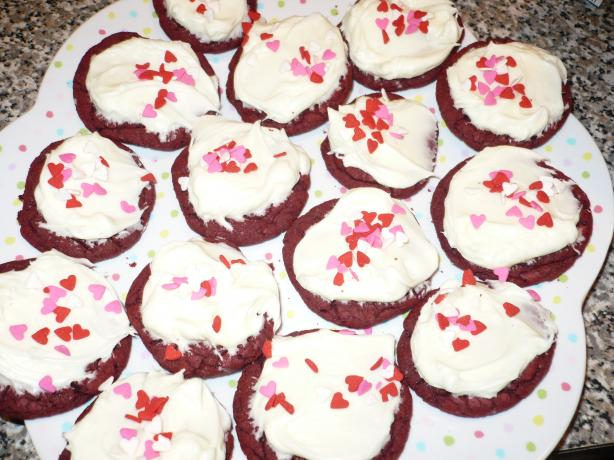 Red Velvet Cookies With Cream Cheese Frosting. Photo by PatriotsGirl