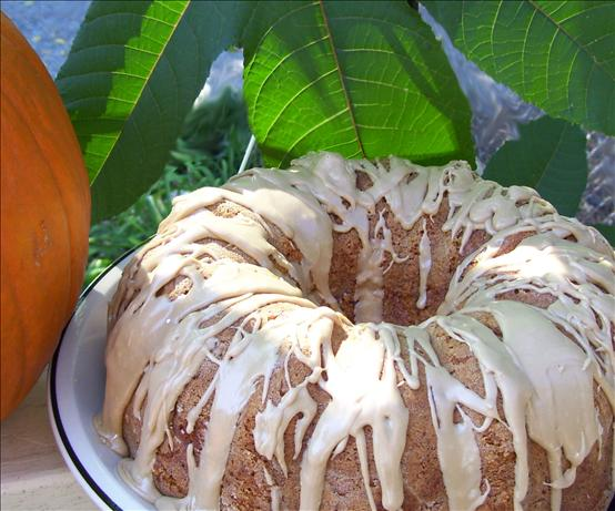 White Chocolate Ribbon Pumpkin Cake With Maple Glaze. Photo by Chef Mommie
