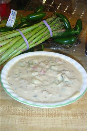 Turkey Leftover Creamy Potato and Asparagus Soup. Photo by quickandsimple