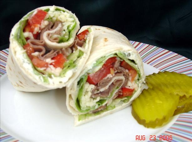 Awesome Angus Roast Beef Wraps. Photo by lets.eat