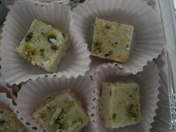Burfi a La Yamuna - Indian Fudge. Photo by browniepie