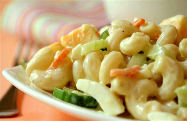 Healthy Macaroni Salad. Photo by GaylaJ