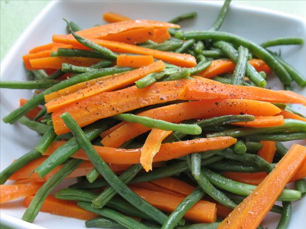 Easy Buttered Green Beans and Carrot Sticks. Photo by Redsie