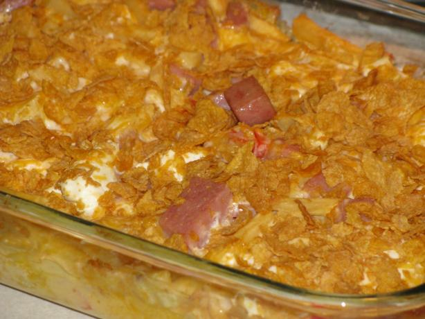 French Fry Spam Casserole. Photo by Shelby Jo