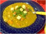 Pea Soup With Chorizo and Chipotle Peppers